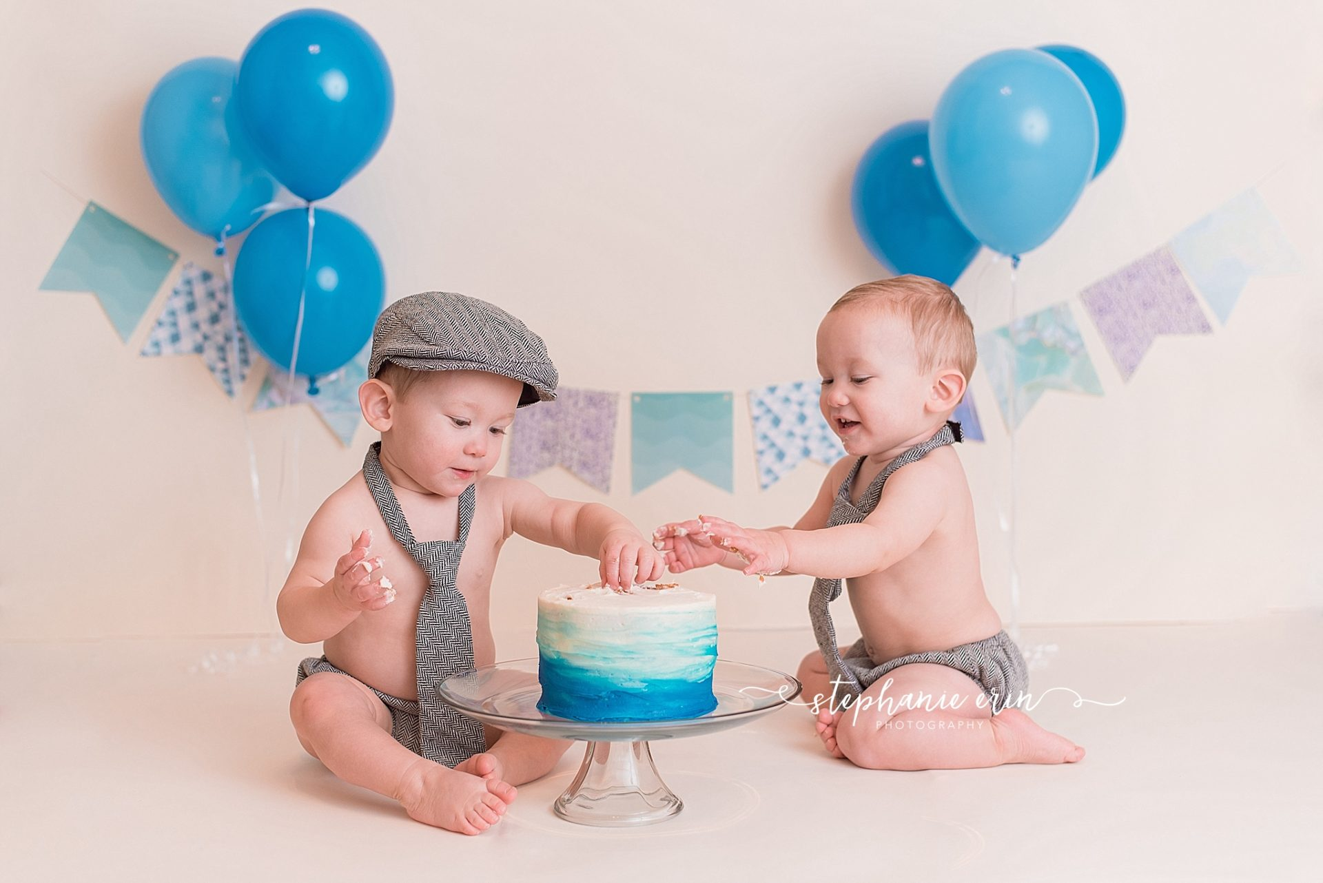 T + H Cake Smash Session | Stephanie Erin Photography | St George Utah Newborn Photographer